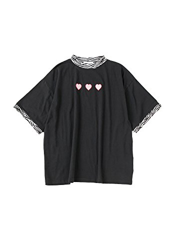 SPINNS ハートゼブラビッグTシャツ