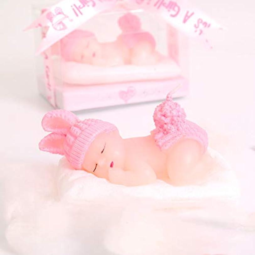 縁石受け入れ沈黙Aixiang 12パックキュートミニハンドメイドSmokeless Scented Candle Gift Boxedゲスト記念品ギフト、ベビーシャワーパーティーFavors用デコレーション 12 Pack