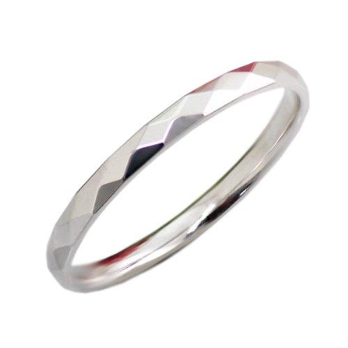[해외]AI (아이) 풀 커팅 반지 | 결혼 반지 (반지) 다이아몬드 커팅 360 ° K10 화이트 골드 (K10WG) 각인 무료 | 문자 입력 | 이름 입력/AI (Eye) full cut ring | wedding ring (ring) Diamond cut 360 ° K 10 white gold (K 10 WG) engraved free | le...