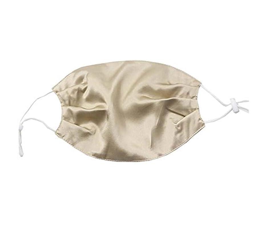 の面では猫背スチュアート島少女と女性のためのエレガントな通気性の柔らかいシルクの口のマスク