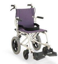 超軽量折りたたみ簡易車椅子/旅ぐるまKA6(ノーパンクタイヤ車椅子)/プラム