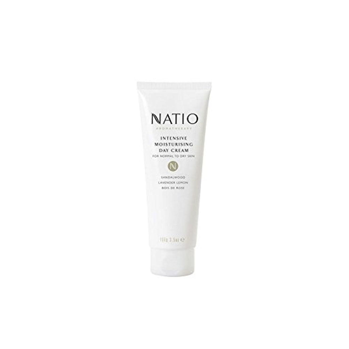 屋内でささやきうま集中的な保湿デイクリーム(100グラム) x4 - Natio Intensive Moisturising Day Cream (100G) (Pack of 4) [並行輸入品]