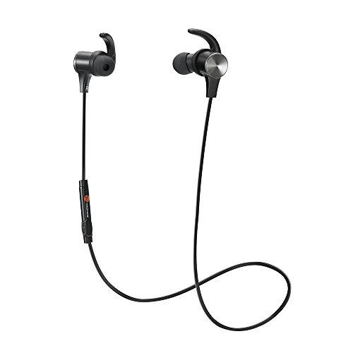 TaoTronics Bluetooth 4.1ステレオイヤホン、マグネティックヘッドホン、 イヤーバッド イヤーフック付け、内蔵式マイク ワイヤレス イヤホン TT-BH07