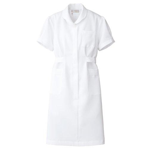 【Lumiere】ルミエール ナース 看護師用 女性用 白衣 診察衣 ワンピース (861336)ホワイト S