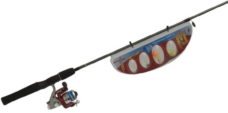 インタフェース余計なポンドZebco hook-line-sinker 20sp / hlss562 mスピン釣りロッドとリールコンボ