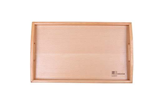 [ルビウスタン]RUBEUSTAN おぼん トレー 木製 トレイ 枠あり (27cm×45cm)