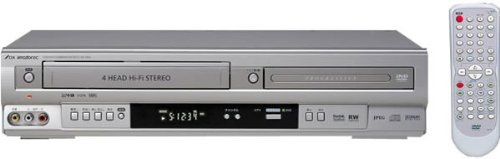 DXアンテナ プログレッシブ出力対応 DVDプレーヤーVHSコンビネーションデッキ DV-140V