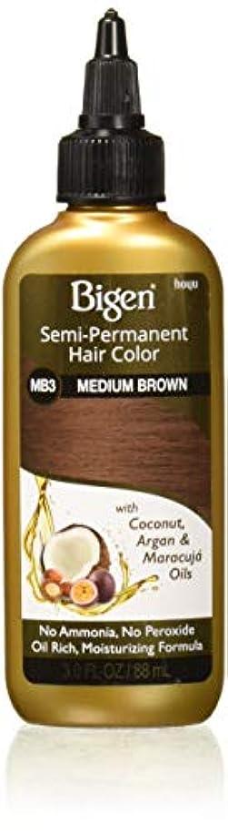 効果流産色合いBigen セミパーマネントヘアカラー、MB3ミディアムブラウン、3オズ(2パック)
