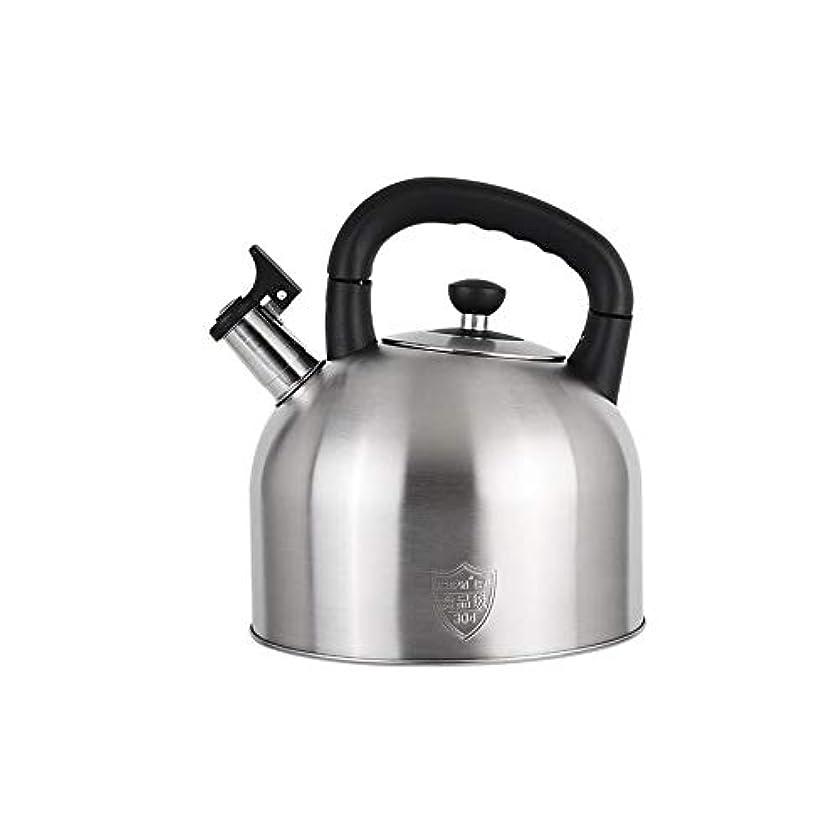 正当な認知雹CHUJIAN 304ステンレス鋼の笛のやかん、ガスの世帯のティーポット、やかん、やかん、普遍的なガス炊飯器、4L / 5L / 6L Burning pot (Capacity : 4L)
