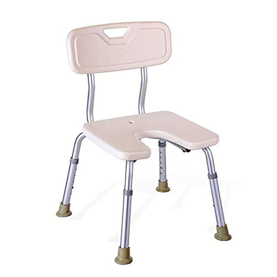疎外する規制ソロパッド入り背部付き肥満症用スツール、調節可能なシャワーシート、高齢者用シート付きバスチェアー、身体障害者用安定装置、バスルームアクセサー