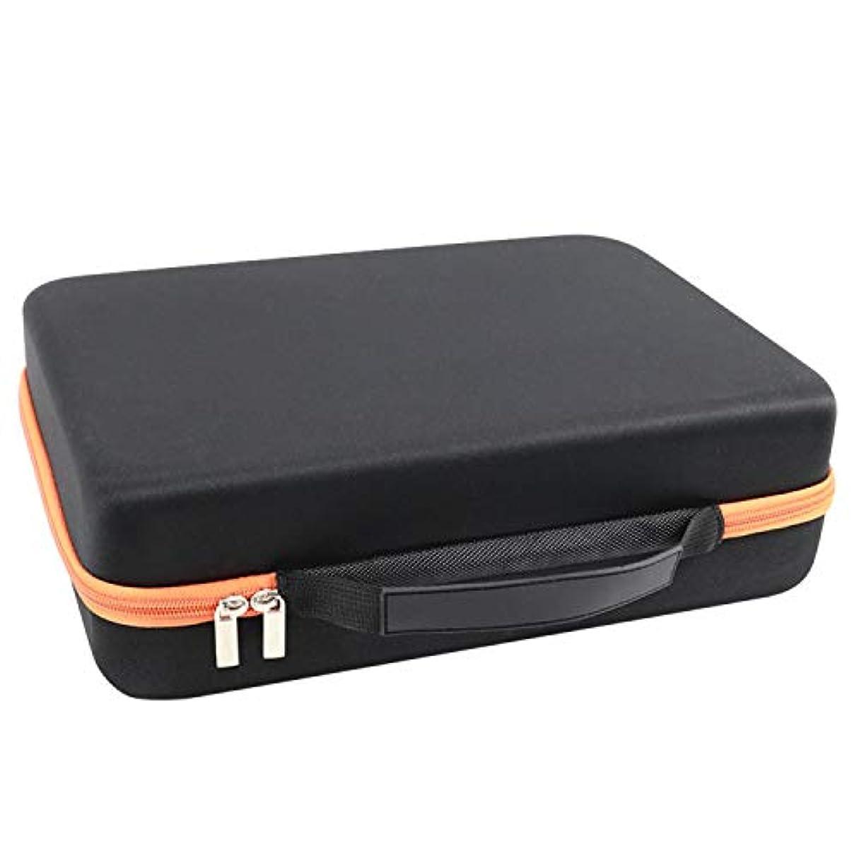 壮大な一掃する鑑定Migavan 70グリッド15ミリリットルエッセンシャルオイル ケース 携帯用 アロマケース メイクポーチ 精油ケース 大容量 アロマセラピストポーチエッセンシャルオイルトラベルケース