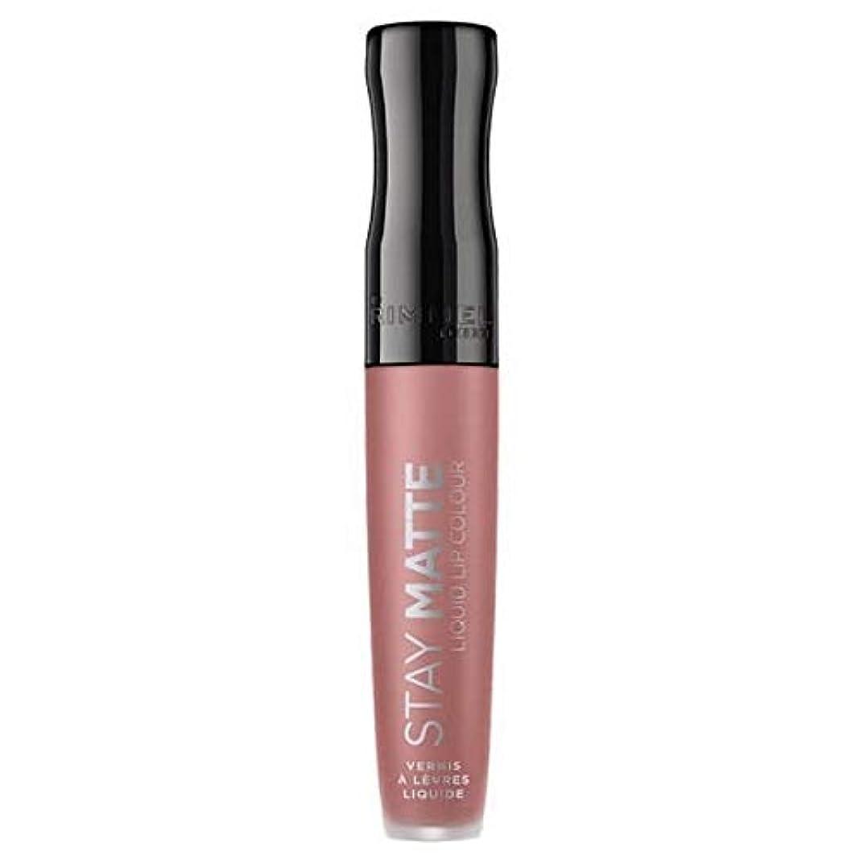 花輪セラフ指導する[Rimmel ] リンメルステイマット液体リップ口紅ストラップレス - Rimmel Stay Matte Liquid Lip Lipstick Strapless [並行輸入品]