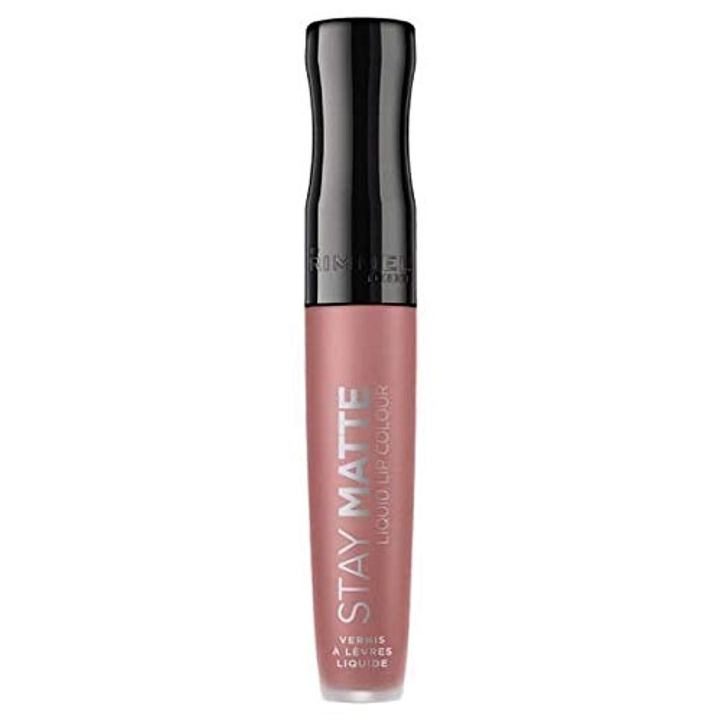 適度にオーバードロー句読点[Rimmel ] リンメルステイマット液体リップ口紅ストラップレス - Rimmel Stay Matte Liquid Lip Lipstick Strapless [並行輸入品]
