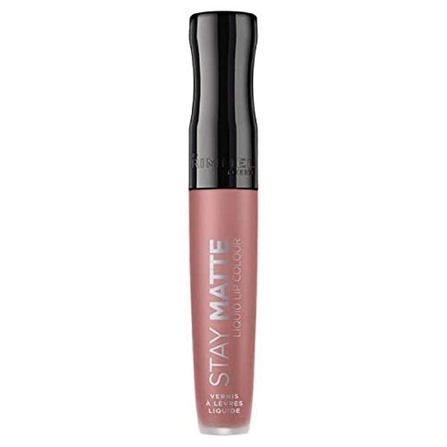 タイヤ引退する文明化する[Rimmel ] リンメルステイマット液体リップ口紅ストラップレス - Rimmel Stay Matte Liquid Lip Lipstick Strapless [並行輸入品]