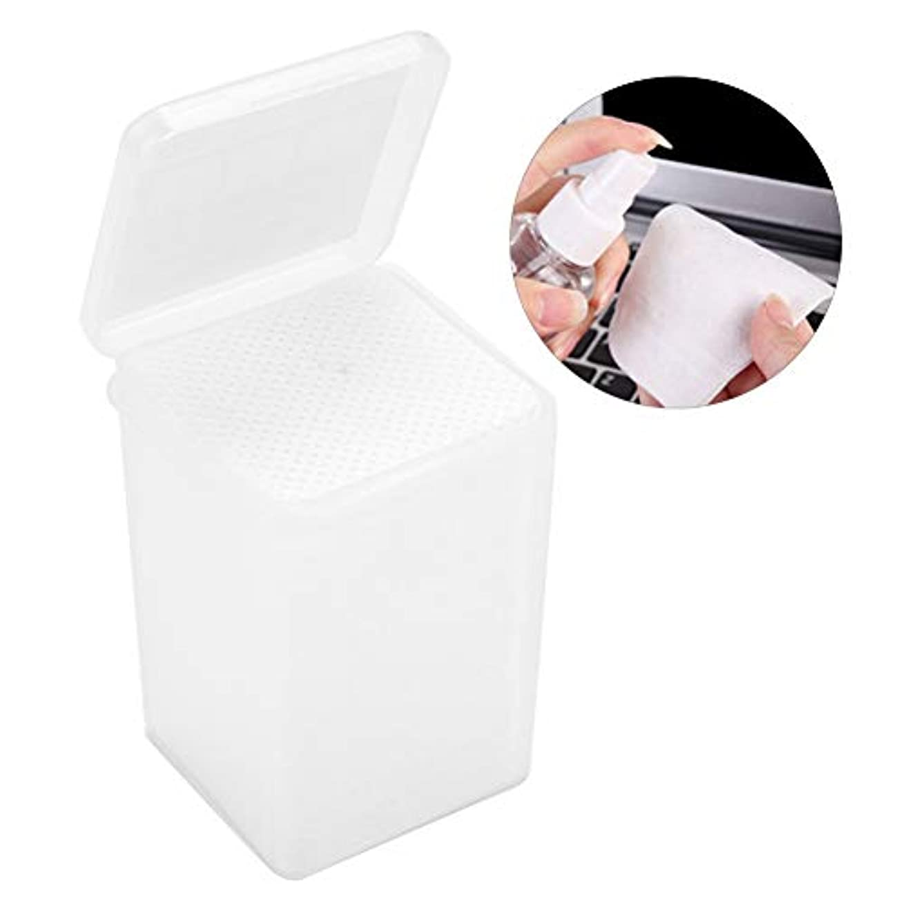 一杯従来の冷酷な拡大 接着剤のワイプ 不織布の接着剤のびん クリーニングのワイプの取り外しのための180個のまつげ延長パッド