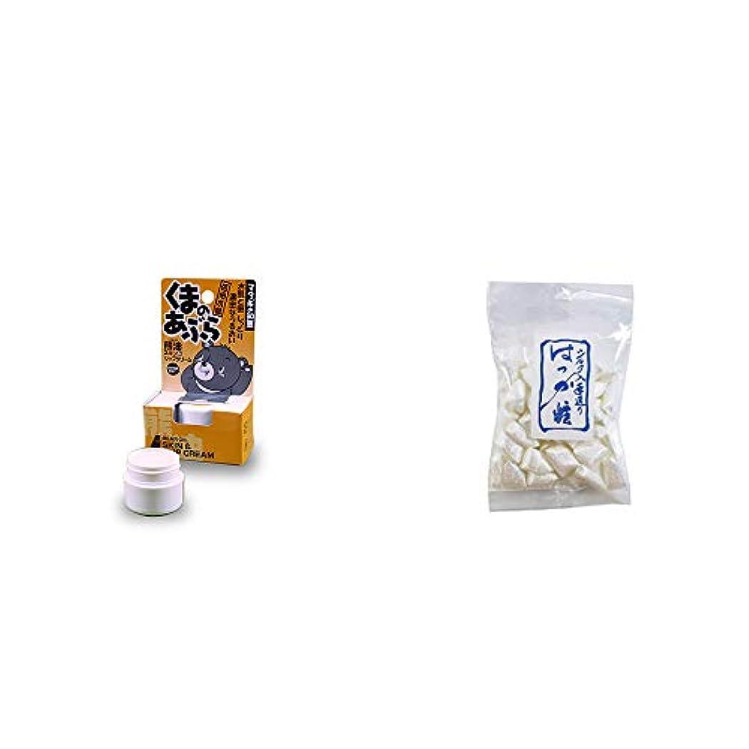 塊取得するスタジオ[2点セット] 信州木曽 くまのあぶら 熊油スキン&リップクリーム(9g)?シルクはっか糖(150g)