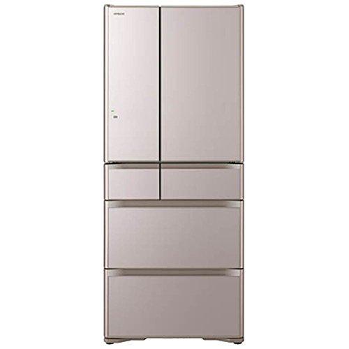 日立 615L 6ドア冷蔵庫(クリスタルシャンパン)HITACHI 真空チルド R-XG6200G-XN