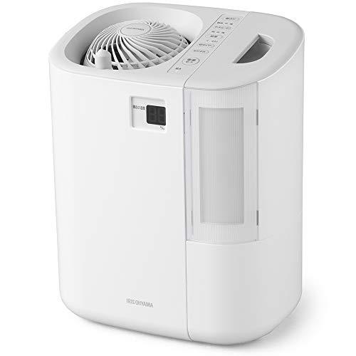 アイリスオーヤマ サーキュレーター加湿器 ハイブリッド式 上下左右首振り 最大加湿量550ml/h 湿度デジタル表示 ホワイト HCK-5519