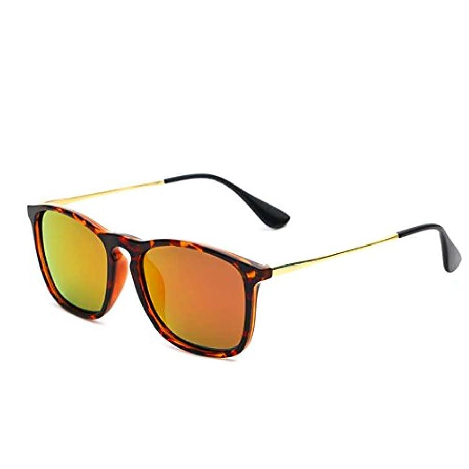 備品許可本体XINGZHE サングラス - 偏光、UV-耐性、レトロ、スタイリッシュでカラフルな、男性と女性のための普遍的な、運転、ストリートシューティング、アウトドアスポーツ、選択する合計7色 サングラス (色 : Leopard Frame Orange)