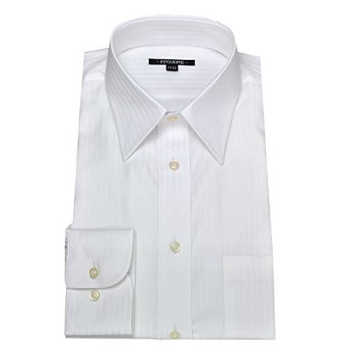(オジエ) ozie 〔00002049〕【ワイシャツ・カッターシャツ】レギュラーフィット・形態安定・綿100%・レギュラーカラー・織柄無地 L ホワイト白シャツ 5926-01-W-71