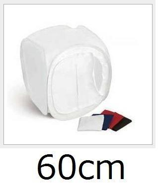 ミニ スタジオ 折り畳み式 小型3種のサイズ展開 4色背景付 撮影 ボックス スタジオボックス フォトスタジオ 簡易スタジオ 撮影キット コンパクト収納 (60cm) SCT