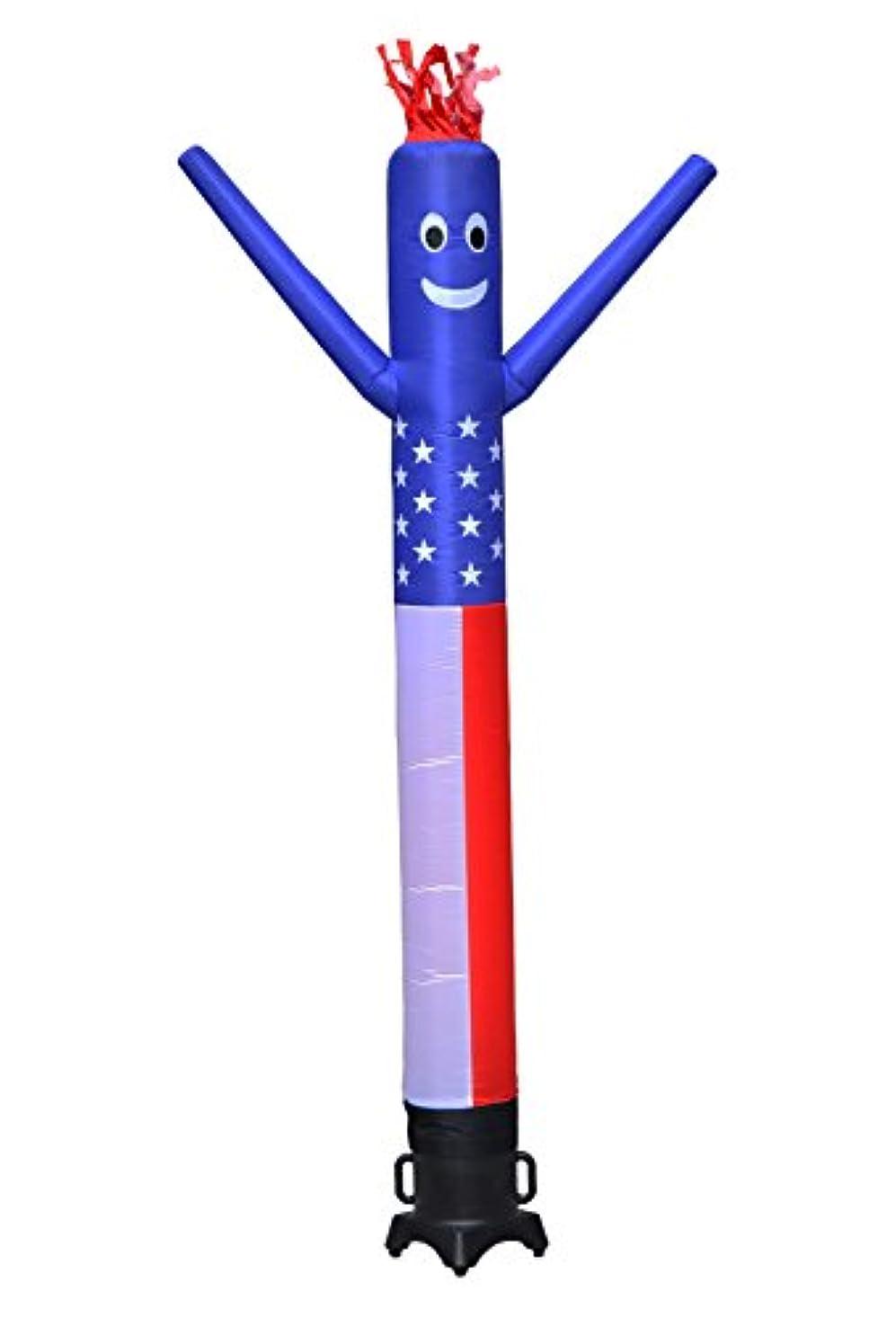 薄い洗練された恩赦Torero Inflatables Air Dancer Tube Man Fly Guy Puppet Complete Set with 1/3 hp Weather-Resistant Blower, American Flag, 10' by Torero Inflatables
