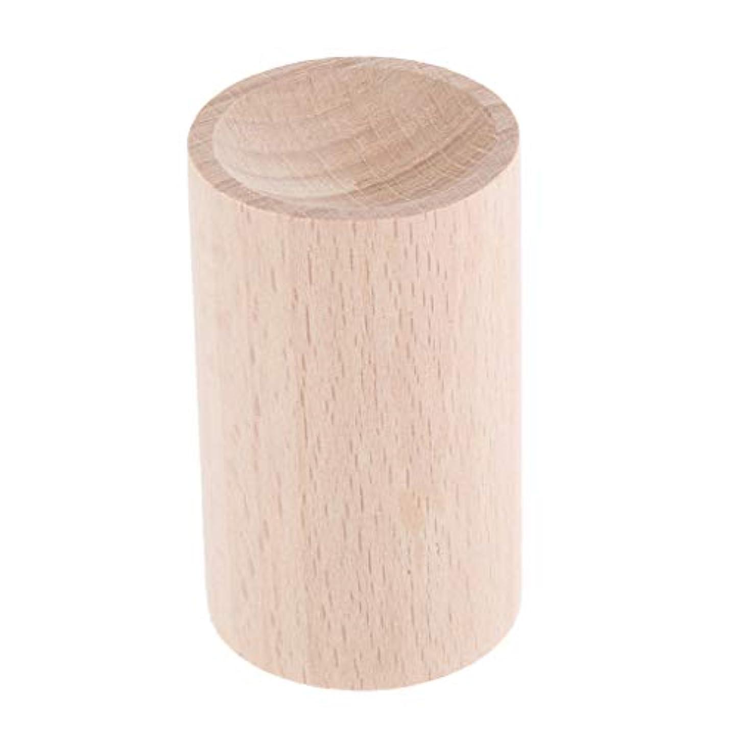 トーナメント説明的複合天然木 ハンドメイド エアフレッシュナー エッセンシャルオイル 香水 アロマディフューザー 2種選ぶ - 01, 3.2cm