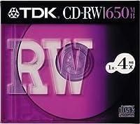 TDK CD-RWデータ用650MB 4倍速10mm厚ケース入り [CD-RW74S]