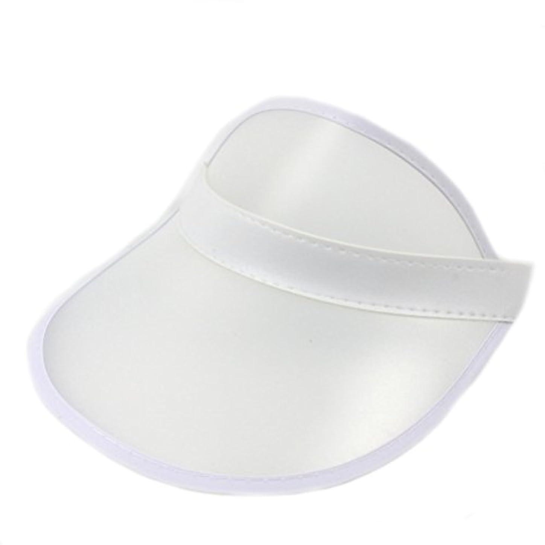 最大化するモルヒネ仮定するHUPLUE プラスチック サンバイザーハット ゴルフ テニス ビーチ 色付き 透明 バイザーハット UV保護
