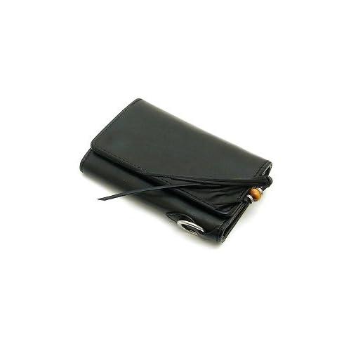 MR.OLIVE(ミスターオリーブ) ME111-BK ブラック レザーウォレット/ショート/ポリッシュレザー/ロングフリンジ/牛革 財布