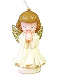 BESTOYARD 天使の蝋燭赤ちゃんの女の子の幼児のためのかわいい天使の誕生日の装飾の技術のろうそく