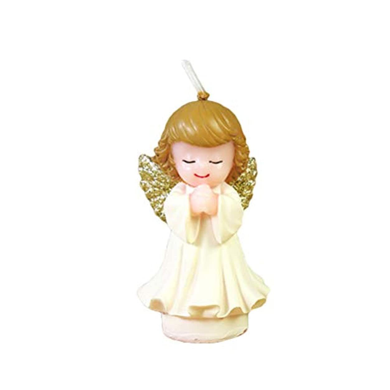 精神的に貝殻純度BESTOYARD 天使の蝋燭赤ちゃんの女の子の幼児のためのかわいい天使の誕生日の装飾の技術のろうそく