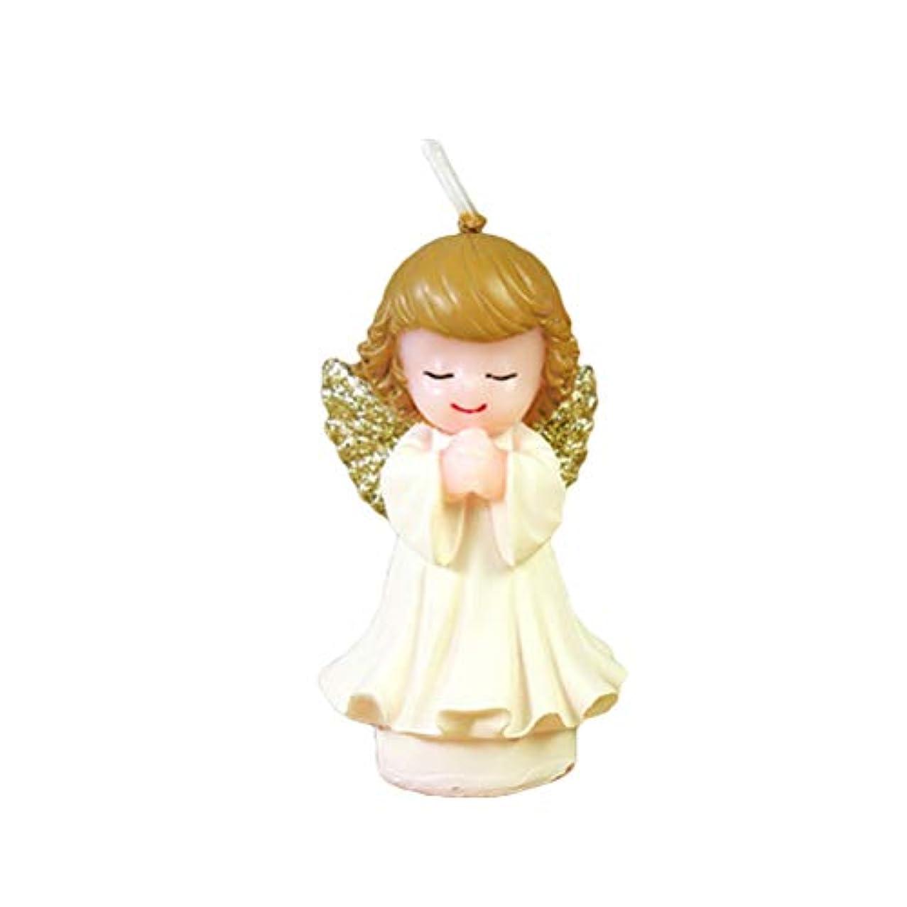 スクラブ相互排出BESTOYARD 天使の蝋燭赤ちゃんの女の子の幼児のためのかわいい天使の誕生日の装飾の技術のろうそく