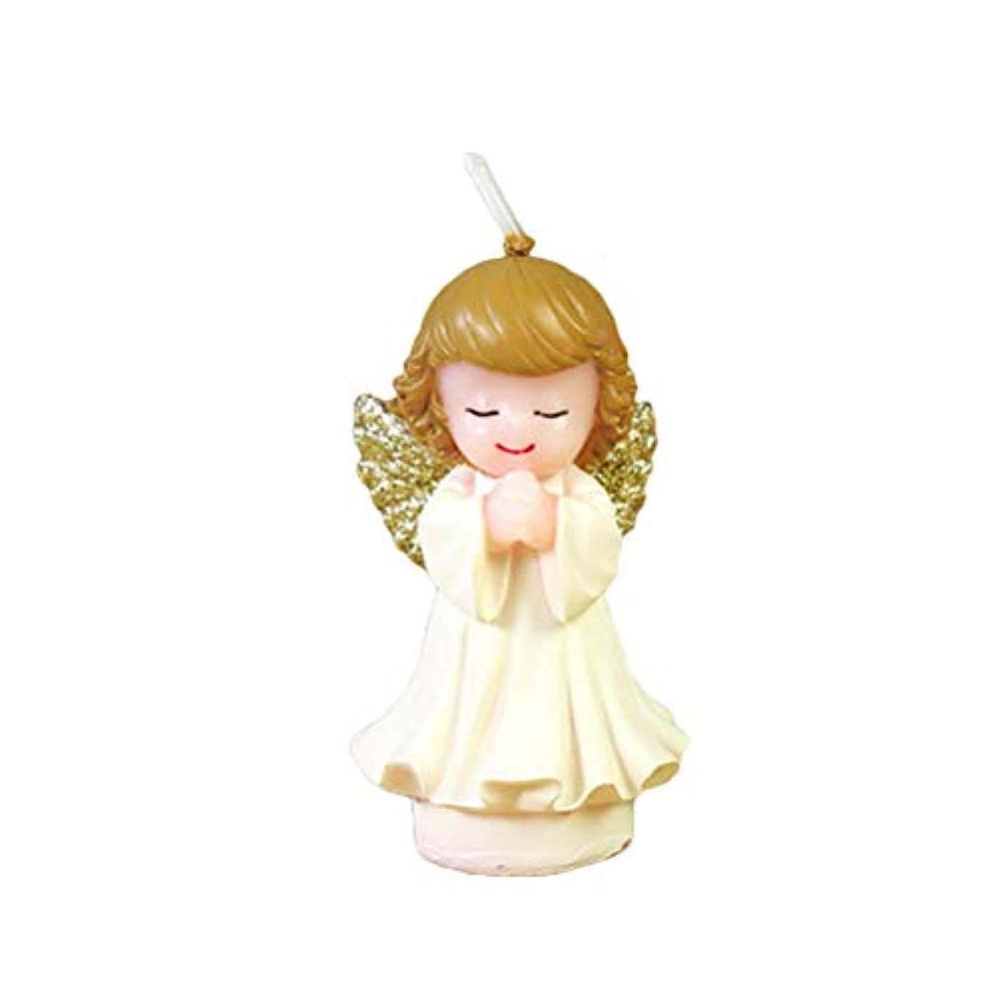 つかむ連結する絶滅させるBESTOYARD 天使の蝋燭赤ちゃんの女の子の幼児のためのかわいい天使の誕生日の装飾の技術のろうそく