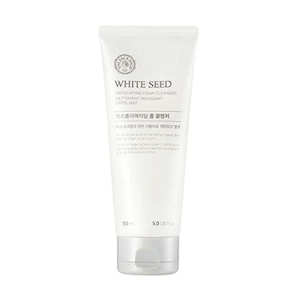 [ザフェイスショップ] The Face Shop ホワイトシードエクスフォリエイティングクレンザー(150ml) The Face Shop White Seed Exfoliating Foam Cleanser(150ml...