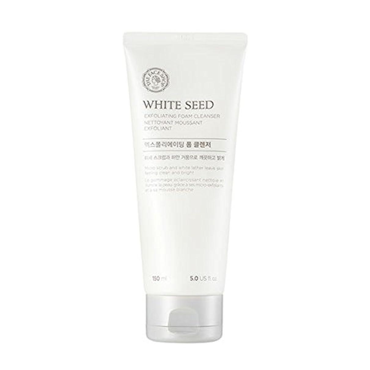 後ろ、背後、背面(部カレンダー吐き出す[ザフェイスショップ] The Face Shop ホワイトシードエクスフォリエイティングクレンザー(150ml) The Face Shop White Seed Exfoliating Foam Cleanser(150ml) [海外直送品]