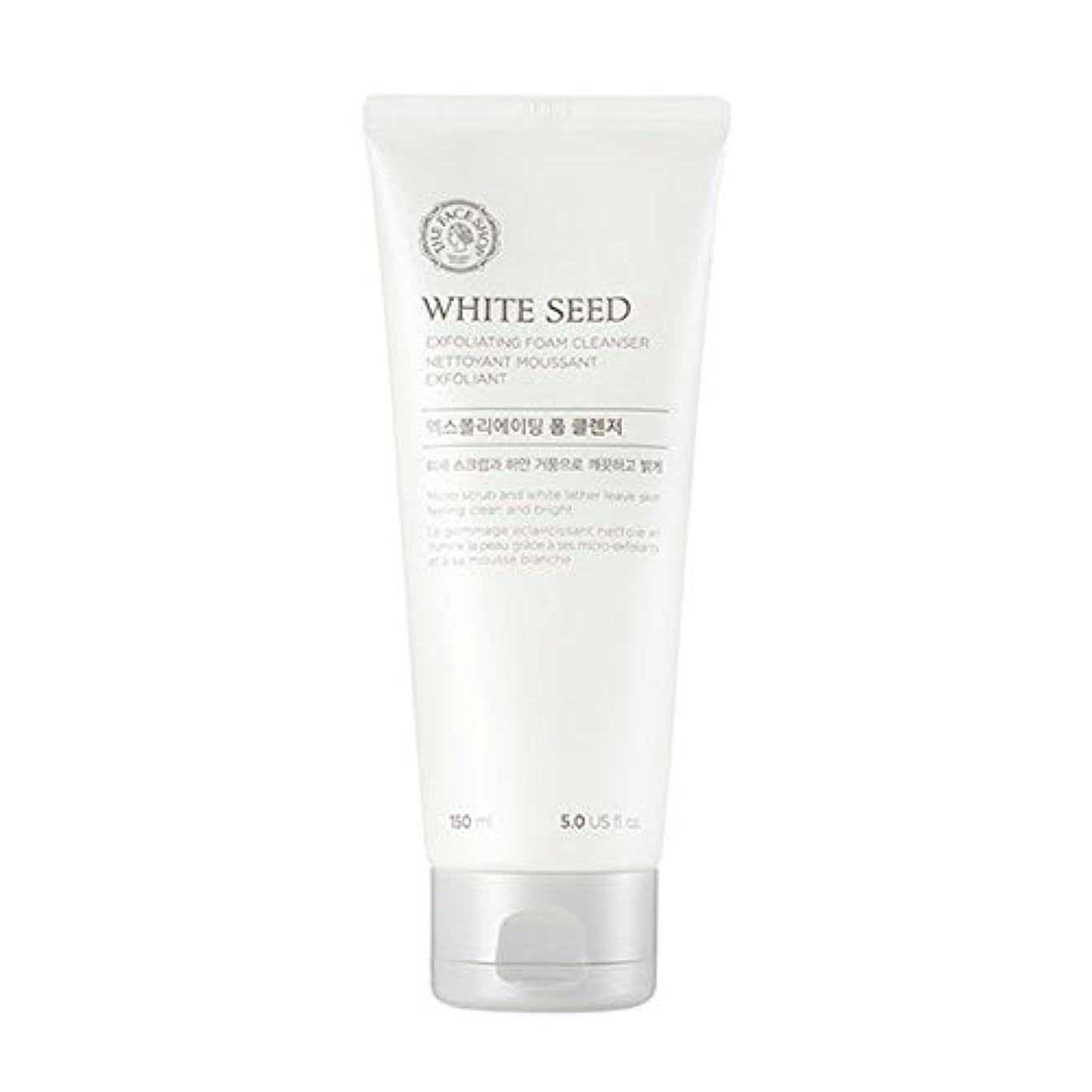 虹ダルセットクッション[ザフェイスショップ] The Face Shop ホワイトシードエクスフォリエイティングクレンザー(150ml) The Face Shop White Seed Exfoliating Foam Cleanser(150ml...