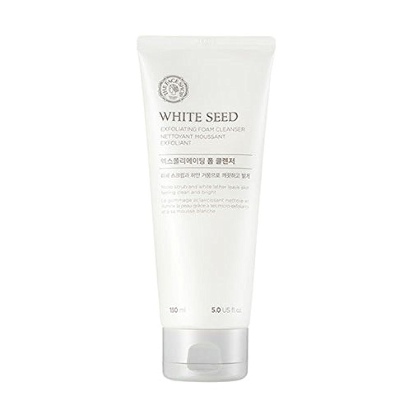 レバー経験的典型的な[ザフェイスショップ] The Face Shop ホワイトシードエクスフォリエイティングクレンザー(150ml) The Face Shop White Seed Exfoliating Foam Cleanser(150ml...