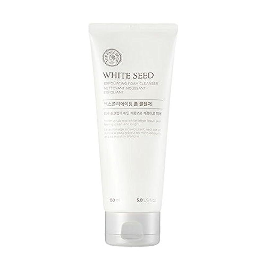 つかまえるトロピカル離れた[ザフェイスショップ] The Face Shop ホワイトシードエクスフォリエイティングクレンザー(150ml) The Face Shop White Seed Exfoliating Foam Cleanser(150ml...