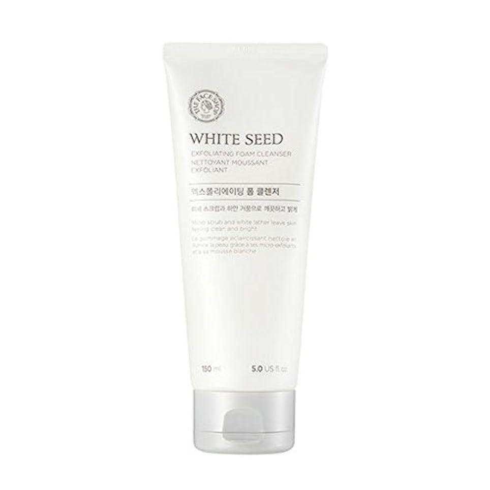 気候承知しましたエキスパート[ザフェイスショップ] The Face Shop ホワイトシードエクスフォリエイティングクレンザー(150ml) The Face Shop White Seed Exfoliating Foam Cleanser(150ml...