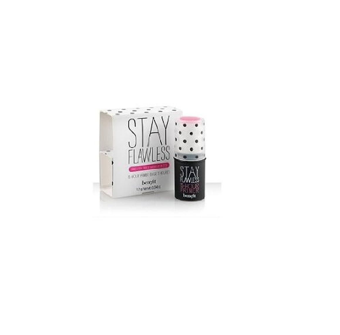 荒涼とした進行中器具ベネフィット ステイ フローレス 15アワー プライマーベース トラベルサイズ Benefit Stay Flawless 15-Hour Primer Stick 0.04 Oz.
