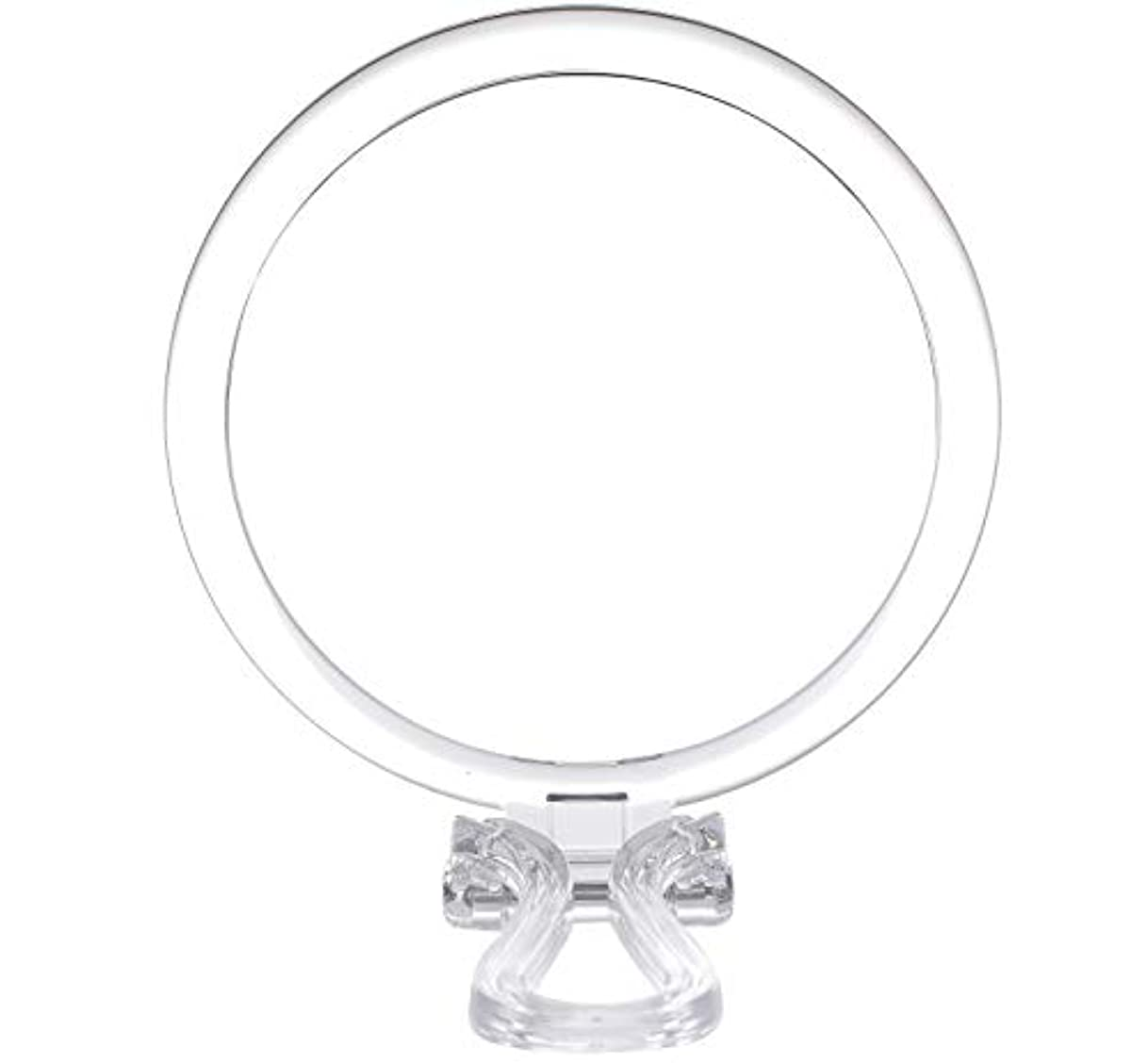 リスキーなできれば意気揚々Miss Sweet 手鏡 折立両面鏡 拡大鏡付き 化粧鏡 1倍*7倍 (7倍*1倍)