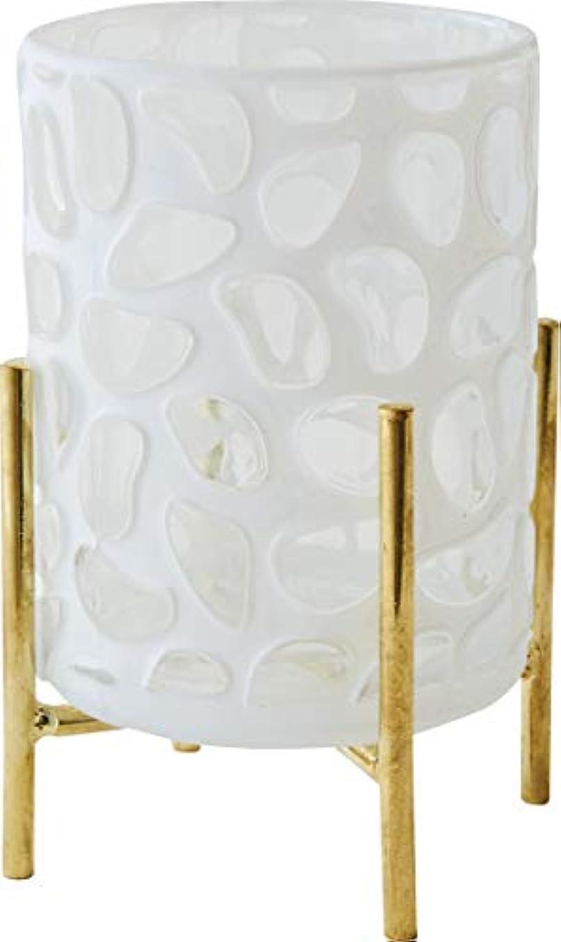 弾薬化粧小麦カメヤマキャンドルハウス ホワイトグラス スタンド付き スト-ン 1個