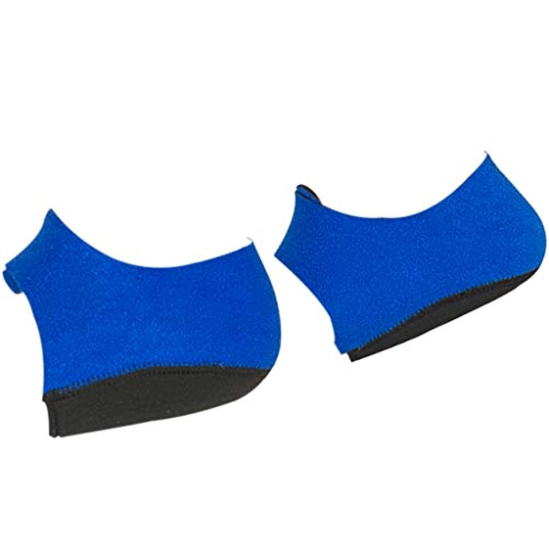 どれそのようなステッチシリコーン かかとサポーター クッション ヒールプロテクター 足底筋膜炎 痛み緩和 全2サイズ - L