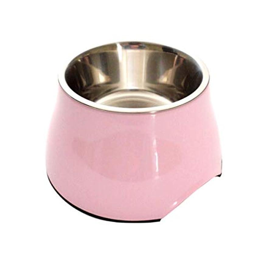 マーカー合併症不良品Xian ペット用ドッグボウル用洗面器用ステンレススチール+模造磁器 - 滑り止めになってはいけません、猫や犬に適していますペット用品 Easy to Clean Non-Skid Bowls for Dogs (Color : Pink, Size : S)
