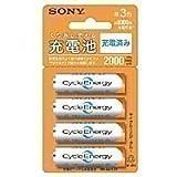 SONY 充電式ニッケル水素電池単3形(4本1組) 1000回充電可能 NH-AA-4BKA