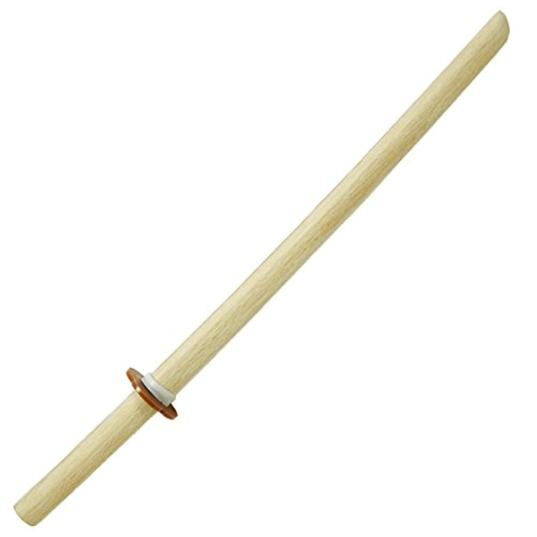 素振り用木刀 白樫木刀 中刀 鍔付き 75cm [WS-0611BS]
