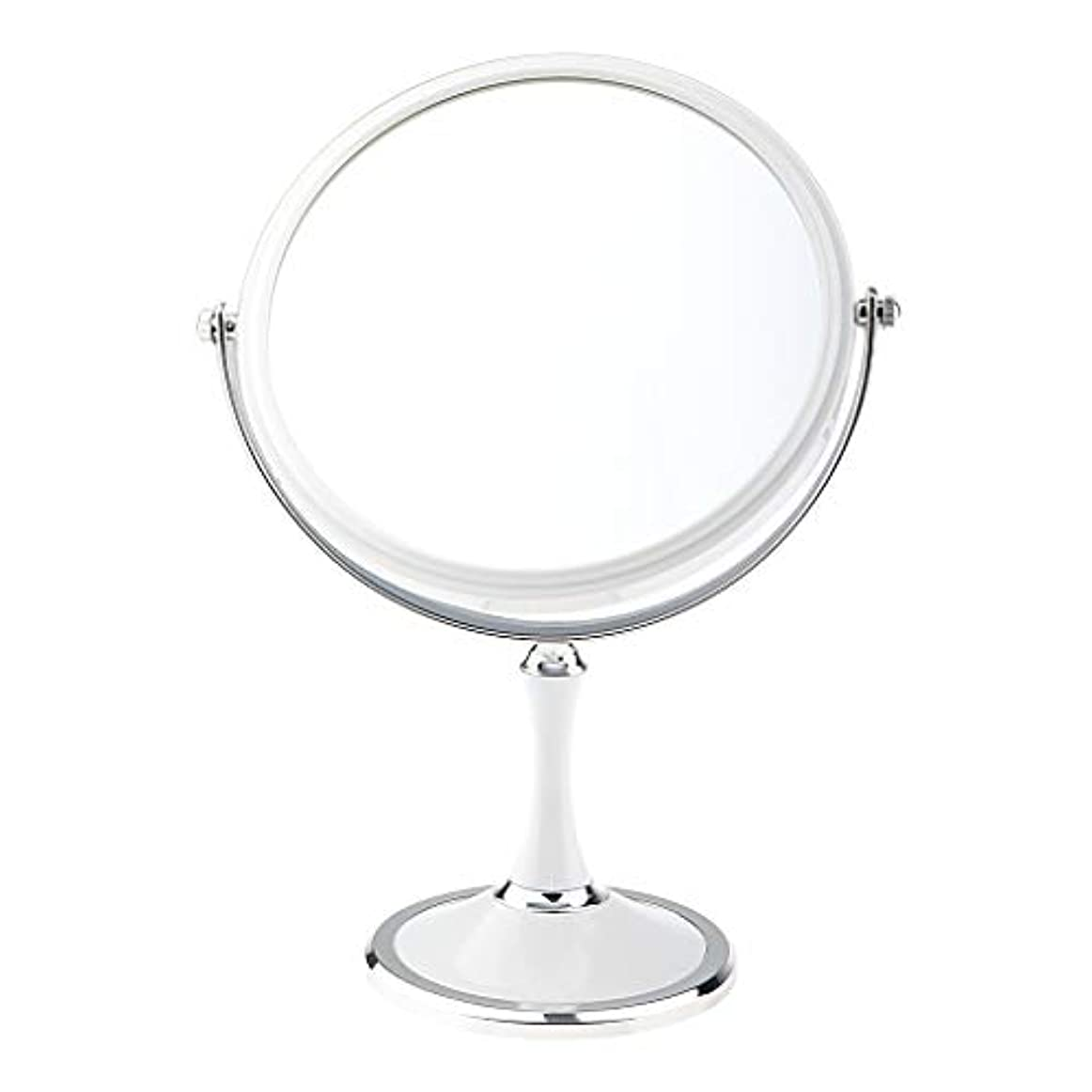 毎月バレーボール意味するT TOOYFUL 化粧鏡 美容メイクアップ化粧ミラー&デュアルサイド1X / 3X拡大鏡スタンド - 白