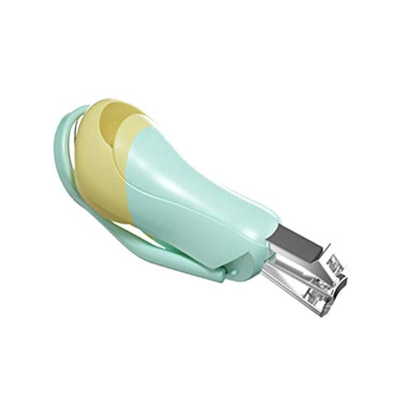 禁輸対話伝導率赤ちゃんの爪切り折り畳み可能爪切り携帯便利 爪切り、グリーン