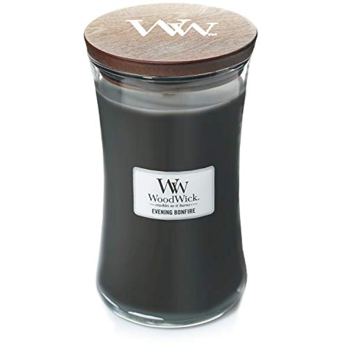 規制ビット刈り取るWoodWick キャンドル ラージ イブニング 焚き火